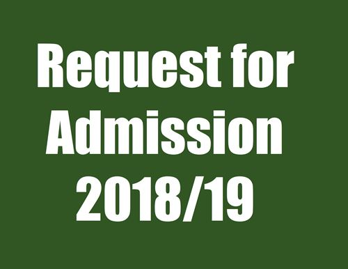 click here to access 2018/19 Request for Admission Form